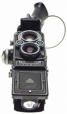 3.5F Rolleiflex TLR camera Planar f=75mm coated lens grip hood case strap kit