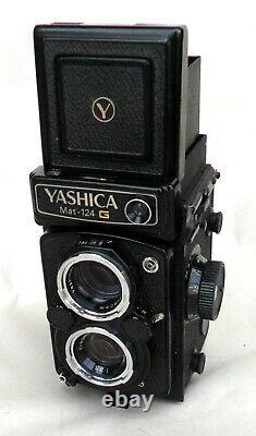 BOXED YASHICA MAT 124G CAMERA c/w LENS, CASE & INSTRUCTION BOOK nr MINT CONDITION