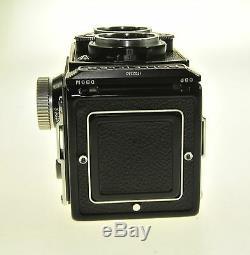 Black Rollei Rolleiflex Tessar 75mm F3.5 TLR Camera