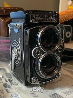 CLA'd Rolleiflex 2.8e TLR Camera with Accessories