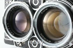 EXC+5 CASERollei Rolleiflex 2.8F TLR Planar 80mm F/2.8 + Hood From JAPAN #1580