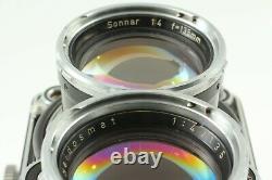 EXC+5 +Case Rollei Tele Rolleiflex TLR Camera Body Sonnar 135mm f4 Lens JAPAN