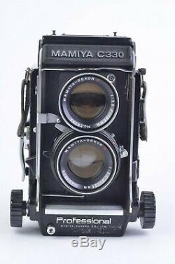 EXC++ MAMIYA C330 PRO TLR withSEKOR D 105mm f3.5, UV, BRACKET, CAP, TESTED, NICE