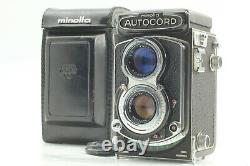 EXC+++++ Minolta Autocord III TLR with Rokkor 75mm f/3.5 Leather Case from JAPAN