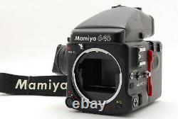 Exc+++++ Mamiya 645 Pro Tl Body Ae Prism Finder, 120 Film Back, Strap By Fedex