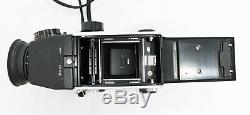 Exc+++++ Mamiya C220 Pro TLR with 80mm F2.8 and CdS Magnifying Hood from Japan