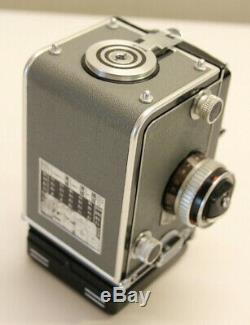 GRAY ROLLEIFLEX T 6X6 120 FILM CAMERA TLR TWIN LENS REFLEX Zeiss Tessar