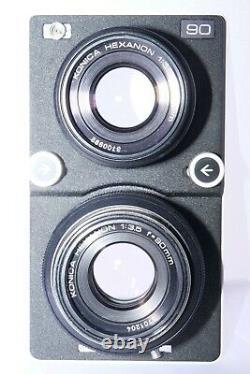 Koni-Omegaflex M 6x7cm medium format tlr camera with 90mm f3.5 Hexanon lens