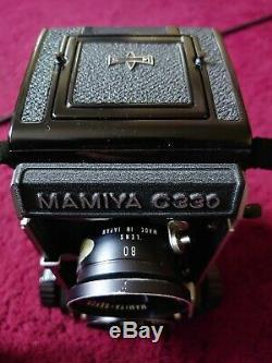 MAMIYA C330 Pro F TLR KIT Rare 80mm F2.8 Blue Dot Lens, 55 mm lens, prism