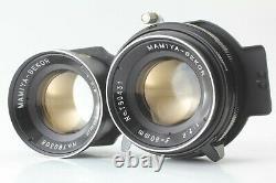 MINT Mamiya C220 Pro TLR Camera sekor 80mm f/2.8 Blue Dot Lens From JAPAN #589
