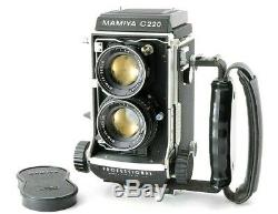 MINT+ Mamiya C220 Professional TLR withSekor 80mm f/2.8 Blue Dot Lens, Grip