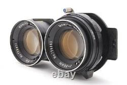 MINT Mamiya C330 Pro F + Sekor S 80mm F2.8 Grip 6x6 TLR Blue Dot From Japan