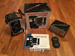 Mamiya C220 Medium Format TLR Film Camera with 80mm F/2.8 lens with Original Box