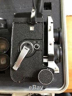 Mamiya C330 Pro TLR Film Camera with80mm f2.8 Blue dot, 180mm F4.5, 65mm F3.5