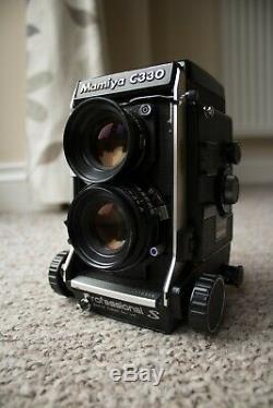 Mamiya C330 S 6x6 medium format film TLR camera 80mm 2.8 lens blue dot. As is