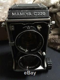 Mamiya c220 Medium Format TLR Camera With 80mm And 64mm Lens And Film