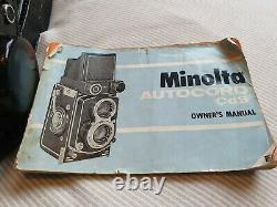 Minolta Autocord CDS TLR Camera with original instruction book and accessories
