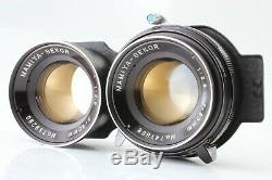 N MINT Mamiya C220 Pro TLR with Sekor 80mm f/2.8 Blue Dot Lens /Grip from Japan