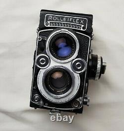 N. Mint WHITE FACE Xenotar Rolleiflex 3.5F 75mm F/3.5 TLR Camera FILM TESTED
