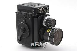 NEAR MINT YASHICA MAT 124G TLR FILM CAMERA with WIDE TELE LENS CASE From JAPAN