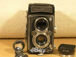 Nice Rolleiflex MX 120 6x6 TLR Camera With Xenar F3.5 Lens