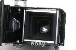 RICOHFLEX DIA 6x6 TLR Riken 80mm F/ 3.5 with Case, Hood, Filter JAPAN 210302