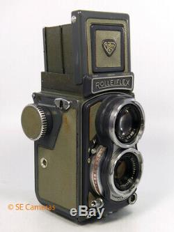 ROLLEIFLEX BABY GREY 4 x 4 TLR CAMERA XENAR 60MM 3.5 LENS VERY GOOD CONDITION