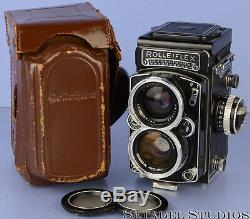 ROLLEIFLEX ROLLEI 55MM DISTAGON ZEISS WIDE TLR CAMERA With METER +CASE +CAPS RARE