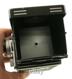 ROLLEIFLEX T 6x6 TLR black ZEISS Tessar 3,5/75 Rollei exposure meter iconic /18