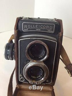 Rollei Rolleicord V TLR Camera Xenar 75mm f3.5 With 3 Lens Case Bag Film & More