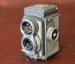 Rollei Rolleiflex 4x4 baby vintage TLR +Schneider 60mm lens 3.5F +Rolleilux Top