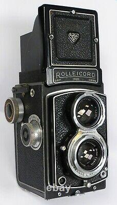 Rolleicord III 6x6 TLR 120 Rollei Camera with 75mm F3.5 Xenar Medium Format + Case