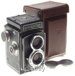 Rolleicord MX TLR film medium format camera Xenar 3.5/75mm lens cased Beautiful