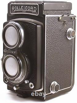 Rolleicord TLR Camera Zeiss Triotar 7.5cm f3.5 Lens MF 6x6 +ROLLEINAR LENSES