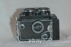 Rolleiflex 2.8 E-II Xenotar with Cap & Strap TLR Film Camera