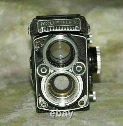 Rolleiflex 2.8 F Planar white Face 12/24 TLR Parts Camera S. No. 2476879
