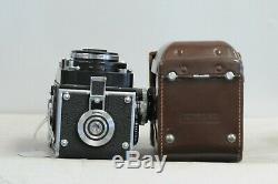 Rolleiflex 2.8F 12x24 Planar TLR Film Camera with Cap, Case & Strap