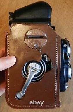 Rolleiflex 2.8F 35mm TLR Film Camera + manual+ case + bag + lenses + lens caps +