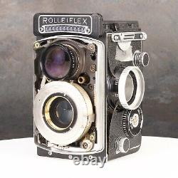 Rolleiflex 2.8F Type 1 Medium Format TLR Camera Body #8016 Chassis Parts Only