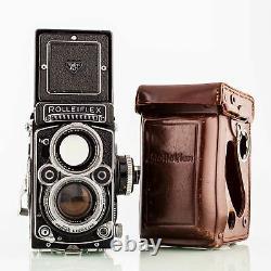 Rolleiflex 2.8f Twin-Lens Tlr Camera-Carl Zeiss Planar 2,8/80mm Shp 68340