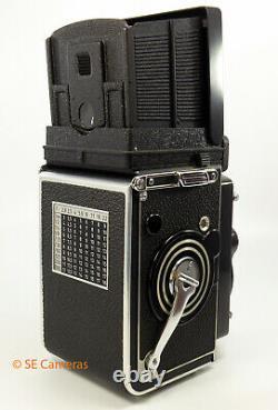 Rolleiflex 2.8f White Face Tlr Camera Planar 80mm 2.8 Lens & Case Near Mint