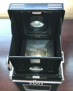Rolleiflex 3.5-E Twin Lens Reflex Film Camera with Zeiss 75mm f3.5 Planar Lens