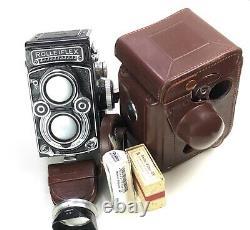 Rolleiflex 3,5/f Tlr 6x6 Format Mit Zeiss Planar 75mm F/3,5 In Top Zustand