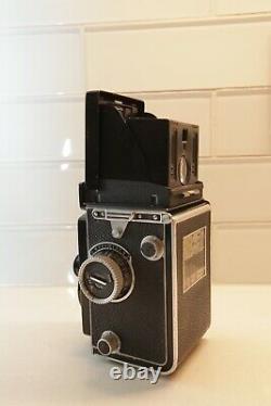 Rolleiflex 3.5B MX-EVS TLR FIlm Camera with Carl Zeiss Tessar 75mm Lens