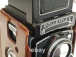 Rolleiflex 3.5E Xenotar 75mm f3.5 S/N 1850834 w Leather Case PERFECT LENS