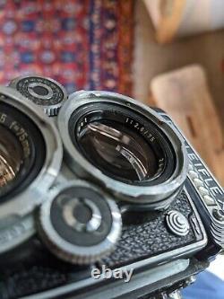 Rolleiflex 3.5E Zeiss Planar 75mm Leather case and strap-Please read description