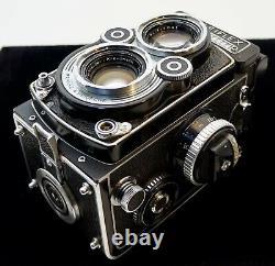 Rolleiflex 3.5F TLR-Schneider Xenotar 75mm Good Light Meter-Prism-Filters/Cases