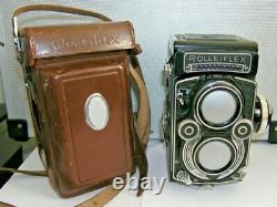 Rolleiflex 3.5F with Zeiss Planar with built in meter, cap, and case