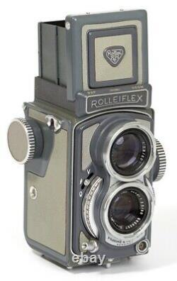 Rolleiflex Baby Tlr Gray Minty 4x4 127 Roll Film Camera Schneider Xenar 60mm