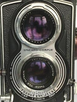Rolleiflex Model T Twin Lens Reflex TLR Film Camera Carl Zeiss Tessar 3.5 75mm